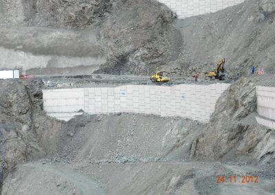 Artvin HES Barajı İstinat Duvarı – Artvin Hydroelectric Plant Retaining Walls 2