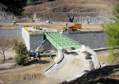 Efemçukuru Altın Madeni İstinat Duvarı