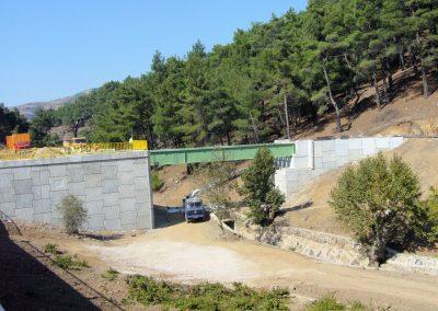 Efemçukuru Altın Madeni İstinat Duvarı - Efemçukuru Gold Mine Retaining Walls 3