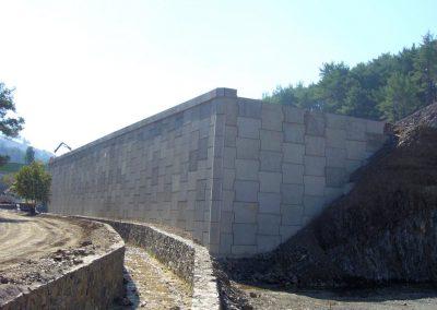 Efemçukuru Altın Madeni İstinat Duvarı - Efemçukuru Gold Mine Retaining Walls