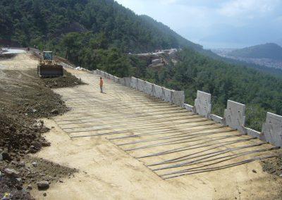 Gökova – Marmaris Yolu İstinat Duvarları – Highway Retaining Walls 1