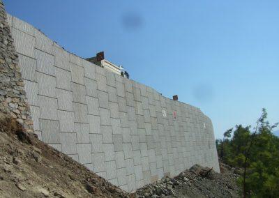 Gökova – Marmaris Yolu İstinat Duvarları – Highway Retaining Walls 6