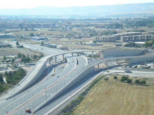 Kayseri Mimar Sinan Köprülü Kavşağı Anayol Köprüsü Kenarayak ve İstinat Duvarları