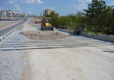 Kayseri Mimar Sinan Köprülü Kavşağı Anayol Köprüsü Kenarayak ve İstinat duvarları – Road Crossing Bridge Abutments and Retaining Walls 4